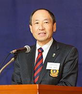 ②奈藏三田体育会会長からの来賓挨拶.jpg